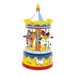 Carrousel musical jaune