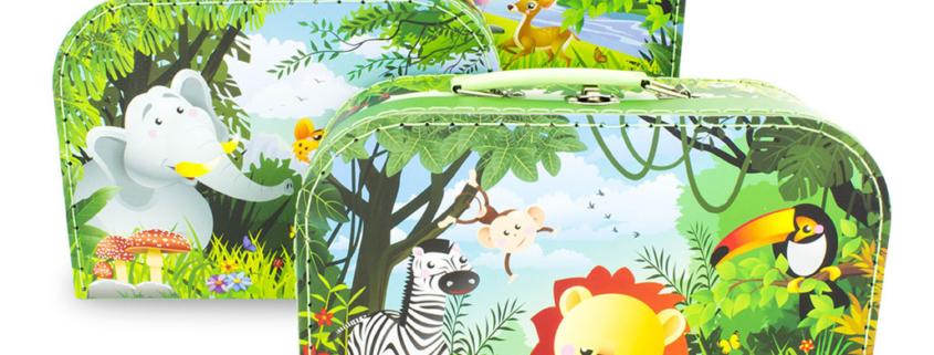Mallettes gigognes Animaux de la jungle