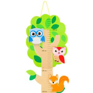 Toise en bois Animaux de la forêt