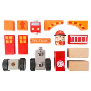 Jeu de construction en bois Pompier