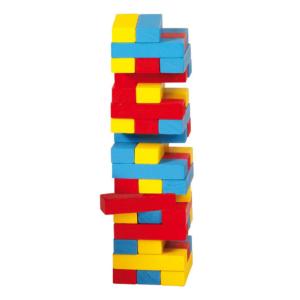 Petite tour d'équilibre en couleurs