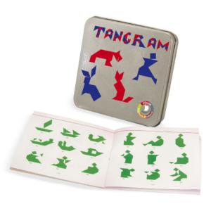 Tangram en bois de poche