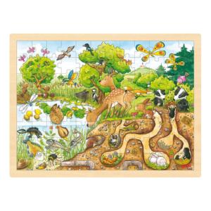 Grand puzzle en bois 96 pièces Terriers