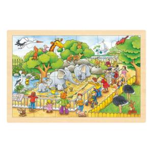 Puzzle en bois 24 pièces Au zoo