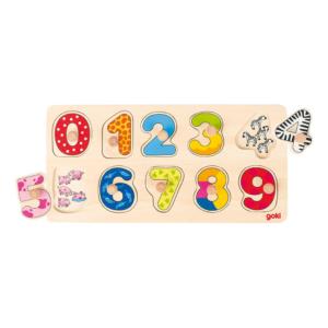 Puzzle à boutons en bois Chiffres