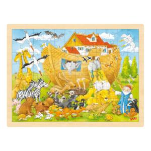 Grand puzzle en bois 96 pièces Arche de Noé