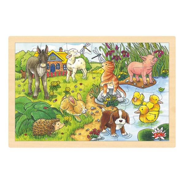 Puzzle en bois 24 pièces Bébés animaux