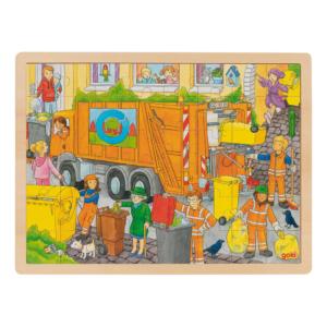 Grand puzzle en bois 48 pièces Recyclage