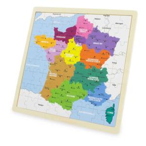Puzzle en bois 72 pièces Carte de France