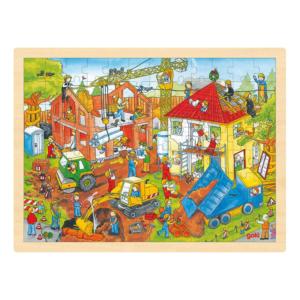Grand puzzle en bois 96 pièces Chantier