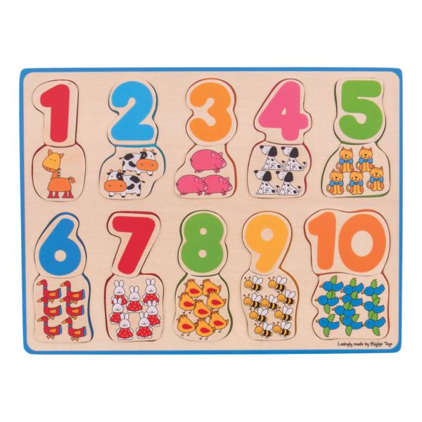 Puzzle en bois Chiffres et Animaux 1 à 10