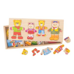 Boîte puzzle Famille ours à habiller