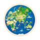 Puzzle réversible en bois 57 pièces Carte du Monde