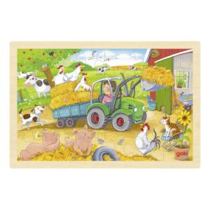 Puzzle en bois 24 pièces À la ferme