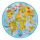 Puzzle rond XL 49 pièces Animaux du monde