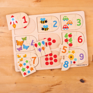 Puzzle en bois Chiffres à associer