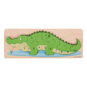 Puzzle en bois Chiffres Crocodile