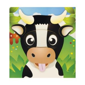 Puzzle magnétique Têtes d'animaux Vache