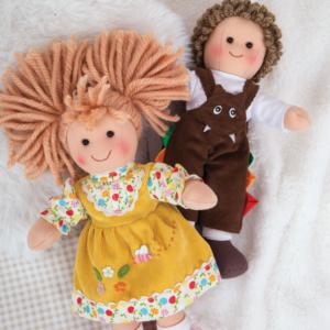 Petites poupées de chiffon Cerise et Théo