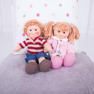 Petites poupées de chiffon Mahé et Lou