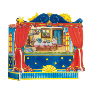 Théâtre en bois avec décors interchangeables