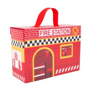 Valisette en carton Caserne de pompiers