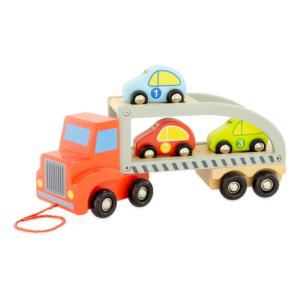 Camion transporteur à tirer en bois
