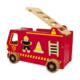 Camion de pompiers à encastrer en bois