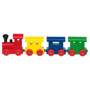Train magnétique en bois 4 couleurs