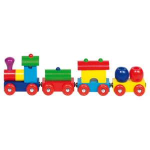 Train magnétique en bois Formes