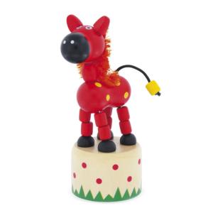 Wakouwa jouet en bois articulé Cheval