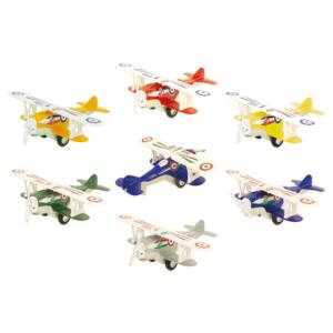 Avions biplan en métal