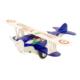 Avion biplan en métal bleu