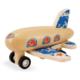 Avion à rétrofriction en bois bleu