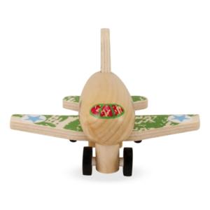Avion à rétrofriction en bois vert