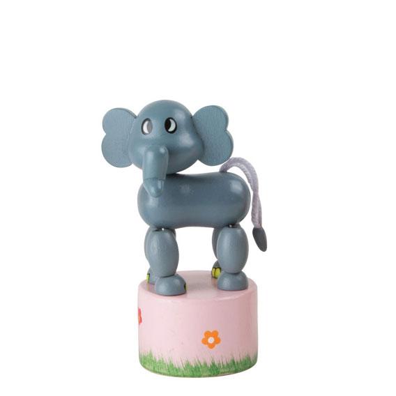 Jouet en bois articulé Éléphant