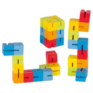 Puzzle de poche articulé en bois