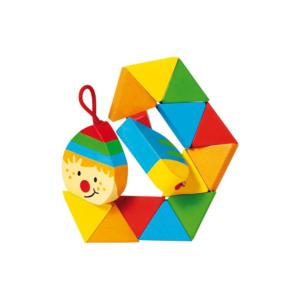 Puzzle de poche articulé en bois Clown