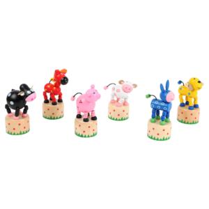 Wakouwas jouets en bois articulés Animaux de la ferme