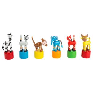Wakouwas jouets en bois articulés Animaux sauvages