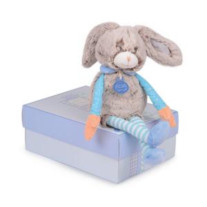 Peluche Lapin bleu pour bébé