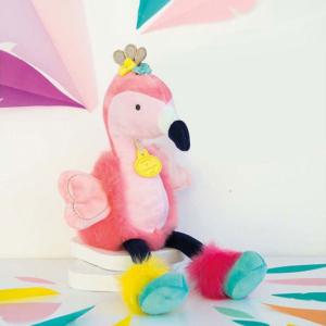 Peluche Flamant rose pour bébé