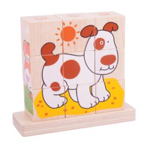 Cubes à empiler Animaux
