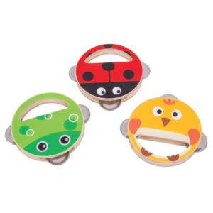 Tambourins à clochettes Animaux