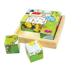 Puzzle cubes Animaux de la ferme