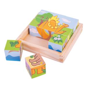 Puzzle cubes Dinosaures