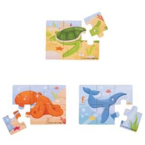 Puzzles 6 pièces Animaux marins