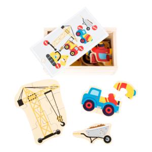 Boîte puzzle en bois Chantier