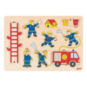 Puzzle 3D en bois Pompiers