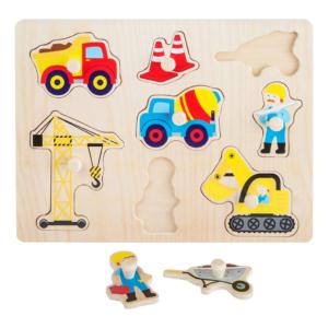 Puzzle à boutons en bois Chantier